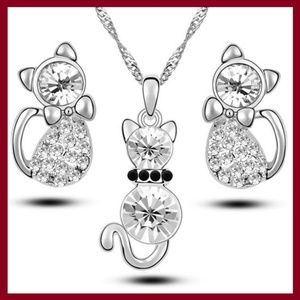 Other - Cute Cat Jewelry Set
